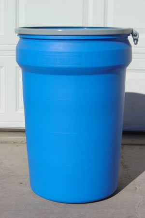 30 Gallon Barrel/Drum Open Top - Side View & 30 Gallon Barrel/Drum Plastic Barrels Plastic Drums Metal Drums ...