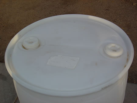 55 Gallon Barrel/Drum Closed Top - White - Top View